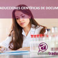 Las traducciones científicas de documentos